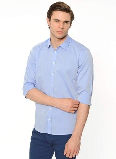 Cacharel Klasik Gömlek Mavi